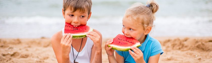 Enjoy summer with slices of fresh watermelon