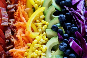 Combination of ingredients creating a rainbow
