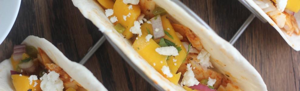 Chili-Lime Fish Tacos with Mango Salsa
