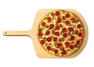 Pizza on a peel