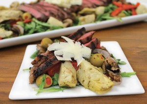 Plated antipasto salad