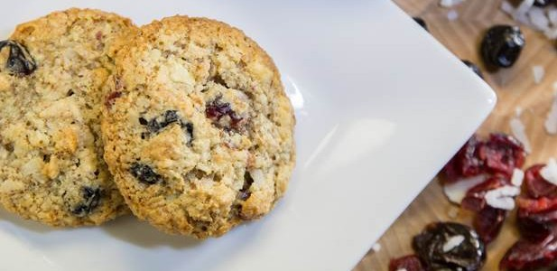 Plated Chewy-Crispy Almond Coconut Cookies