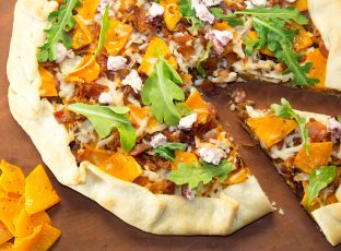 Butternut Bacon Crostata