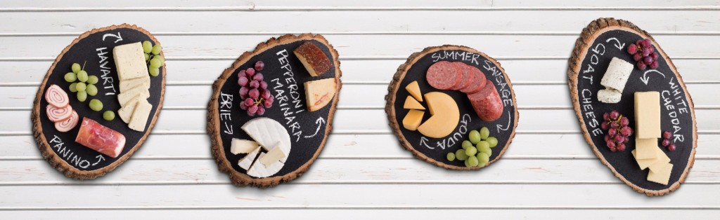 Various charcuterie boards