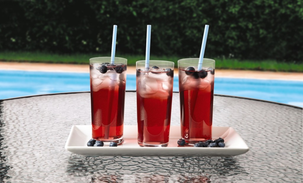 Red, white, and blueberry cooler.