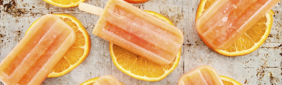 Orange dream pops on orange slices