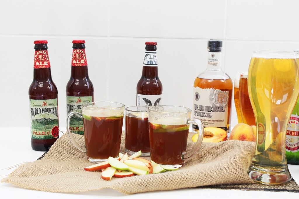 Bourbon apple beer cocktail.