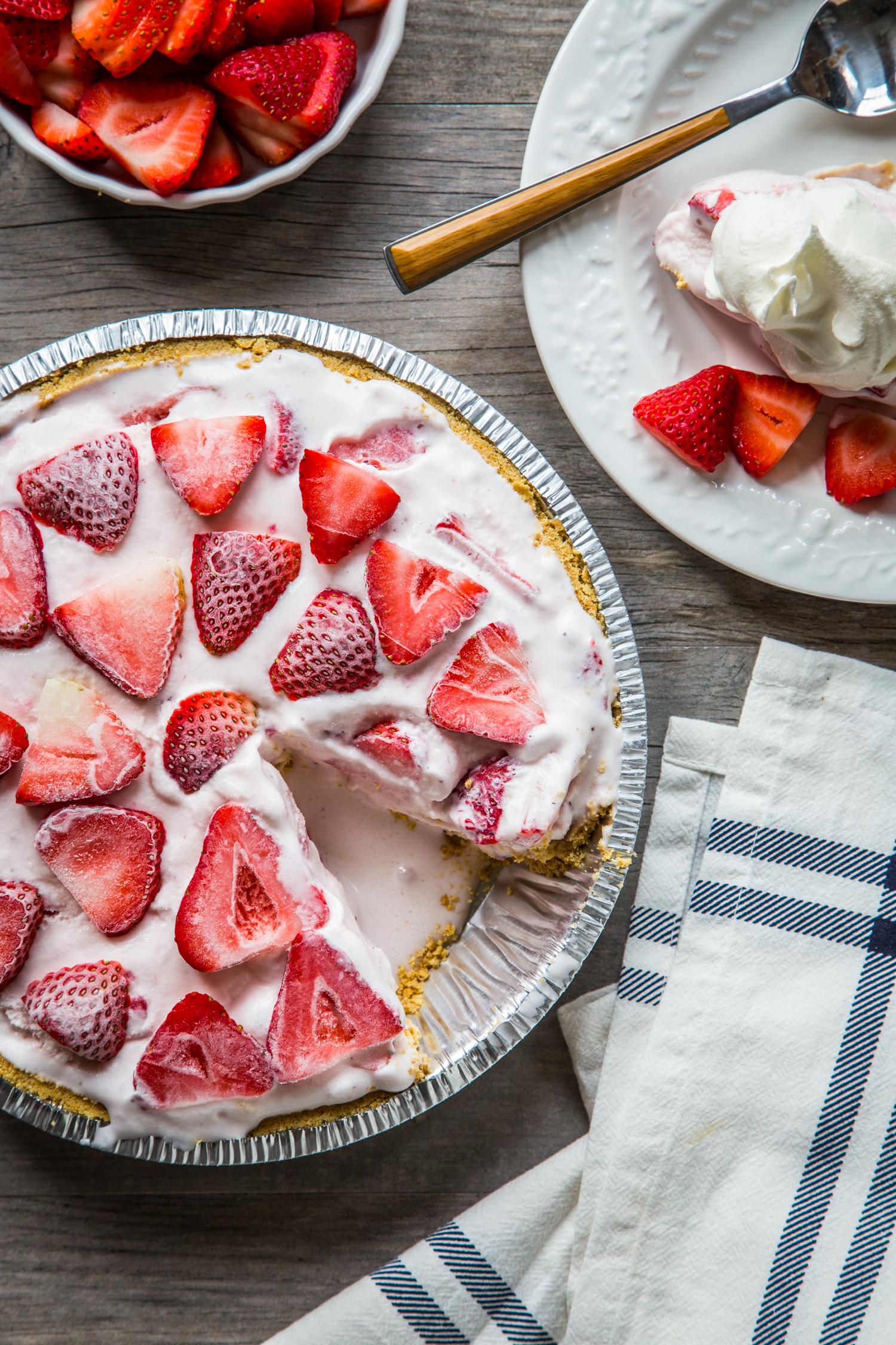 Strawberry ice cream pie.