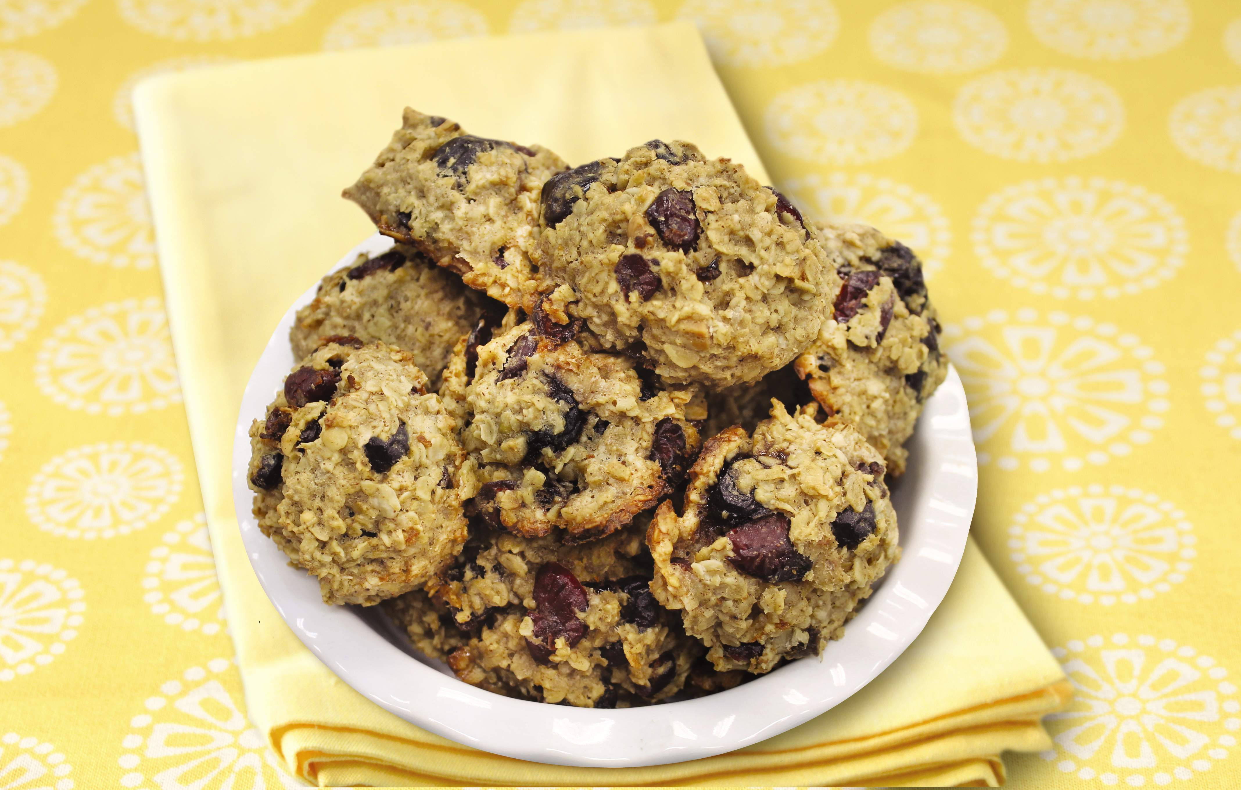 Breakfast cookies with mixed berries.