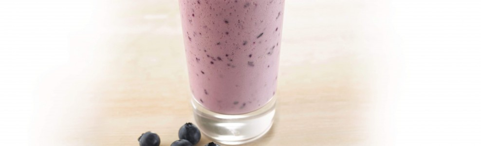 Blueberry lemon smoothie.