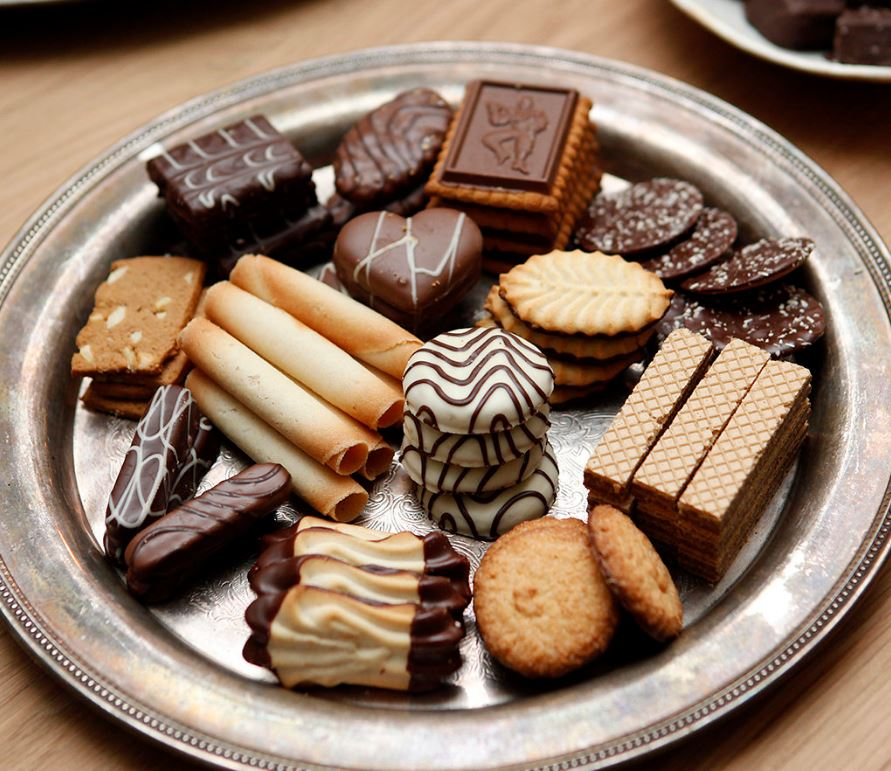 Holiday cookie party tray.