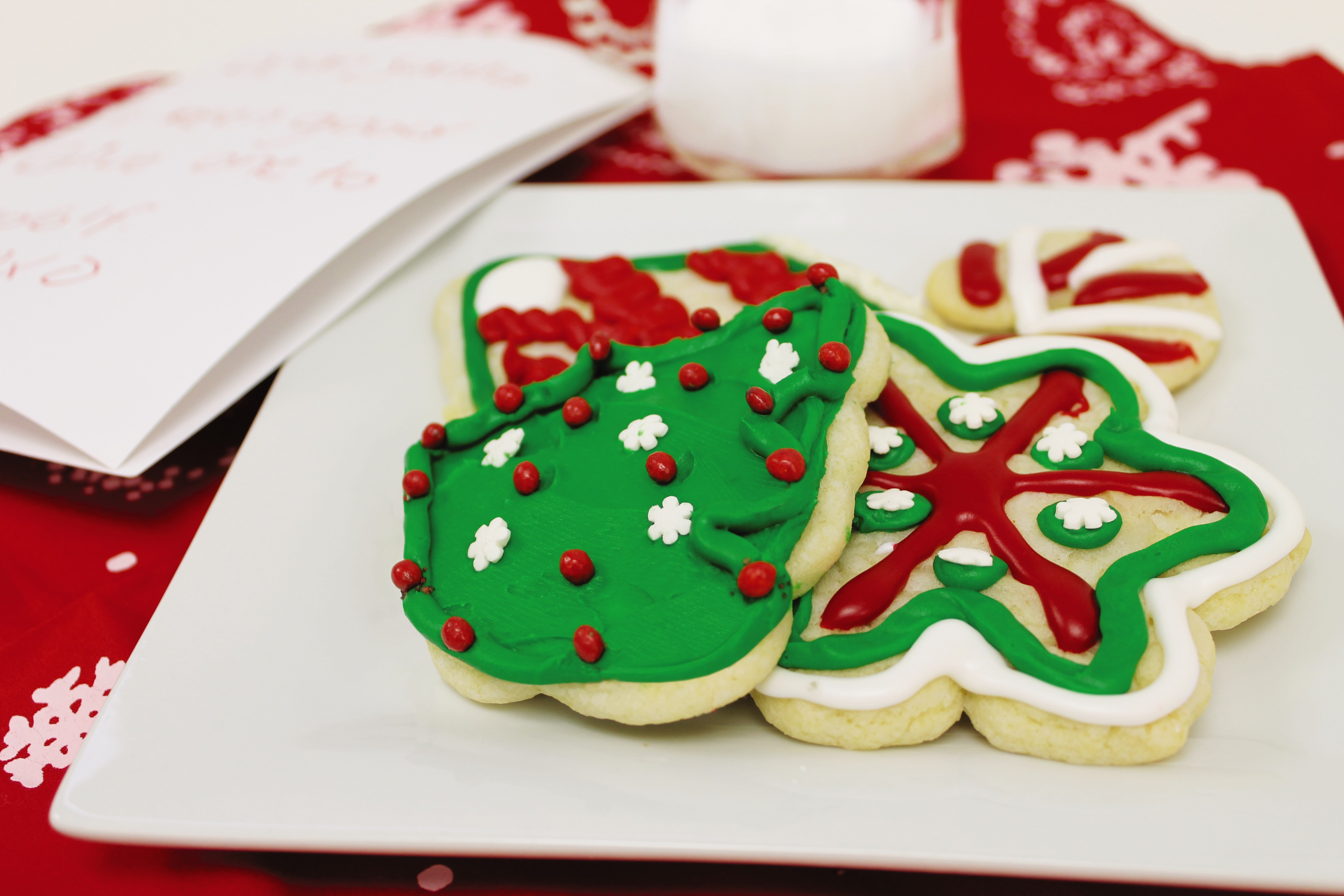 Christmas cookies with frosting.