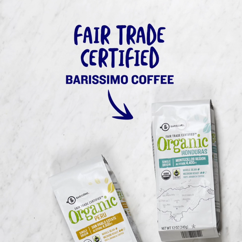 Fair trade certified Barissimo Coffee blends.