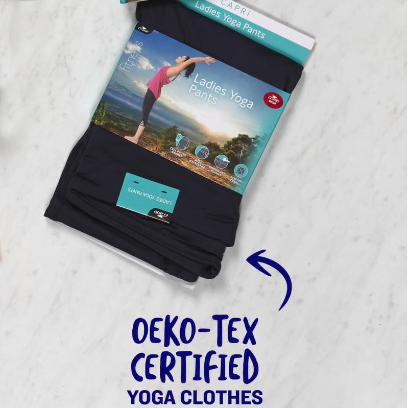 Oeko-Tex certified ladies yoga pants.