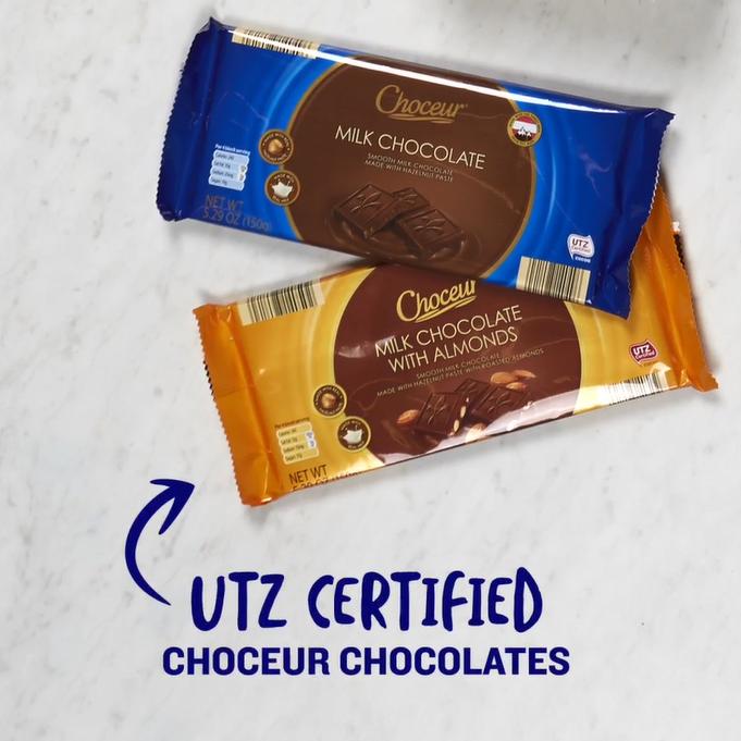 UTZ certified choceur chocolates.