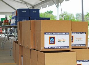 ALDI boxes for Feeding America.