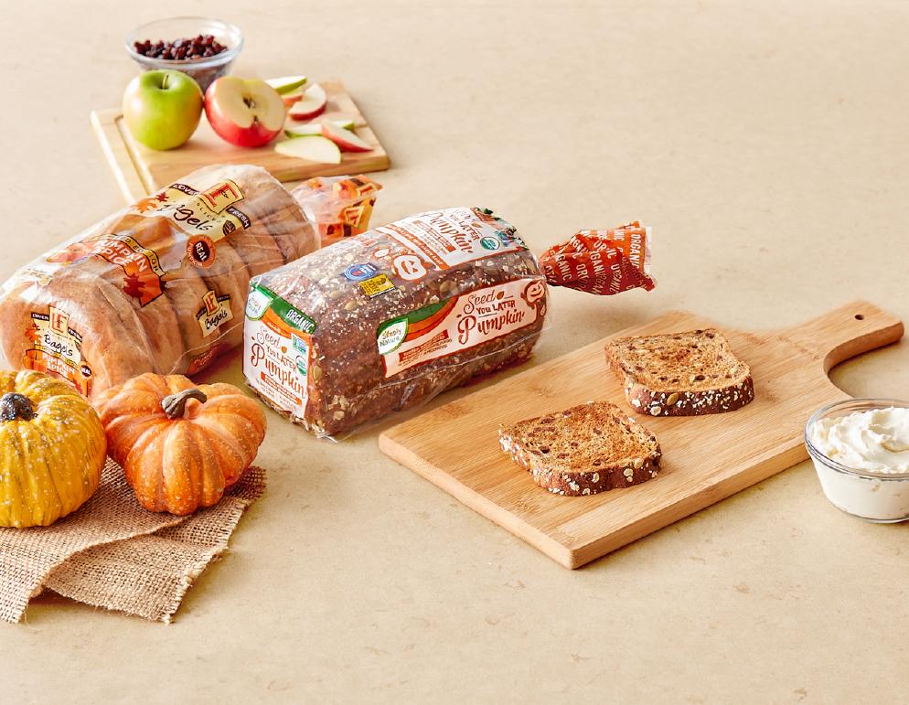 Seasonal organic pumpkin bread.