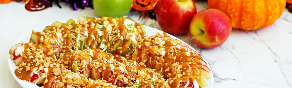 Caramel apple nachos.